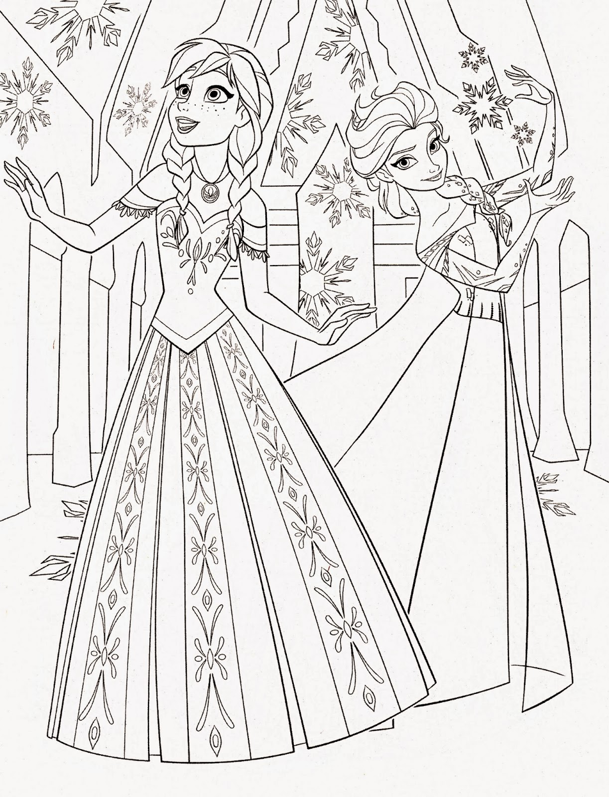 princess elsa and anna