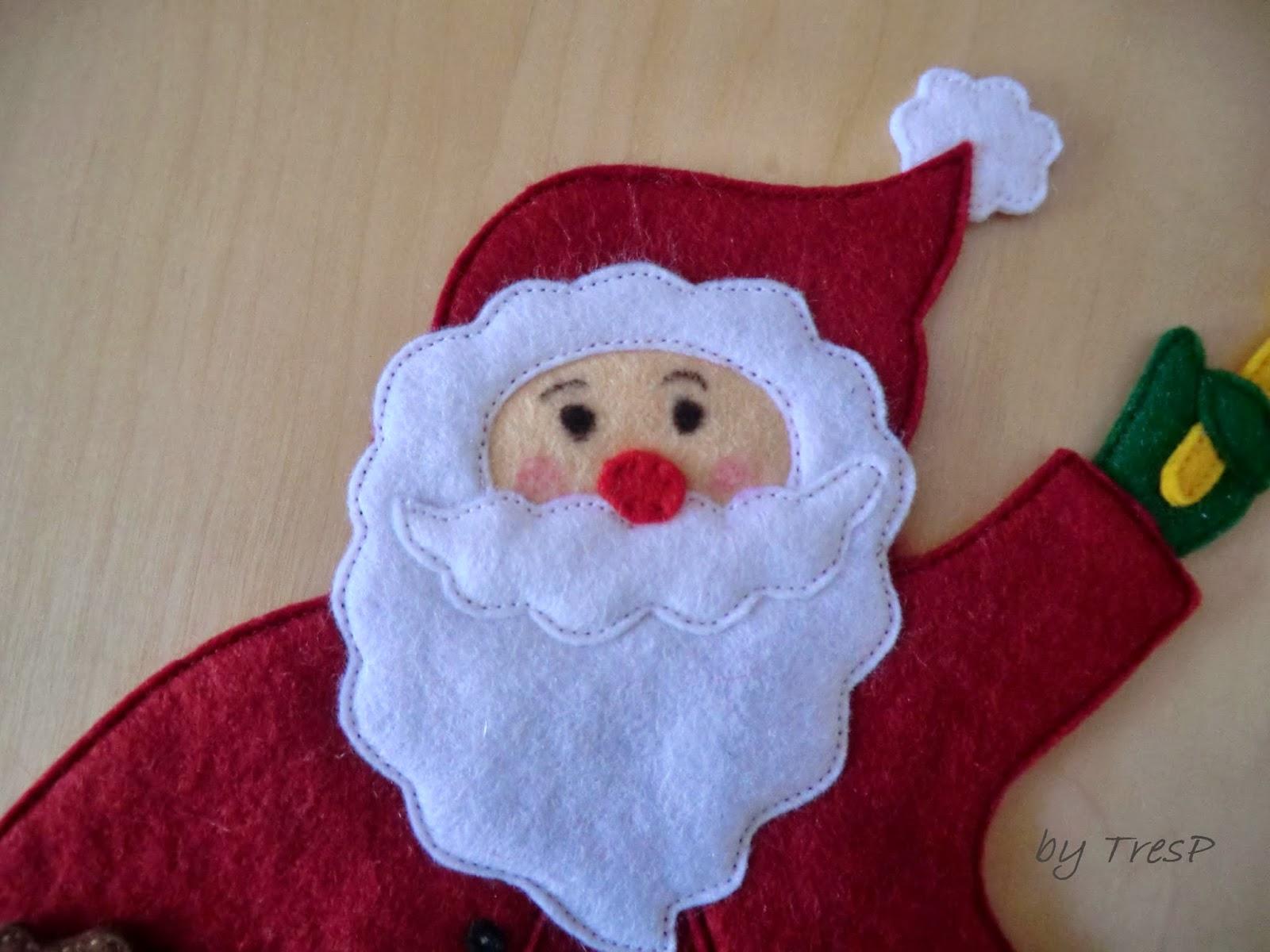 Tresp Craft Blog Dos Santa Claus En Fieltro
