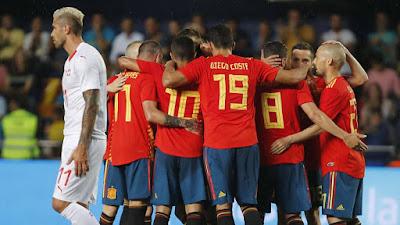 Spain vs Switzerland 2018