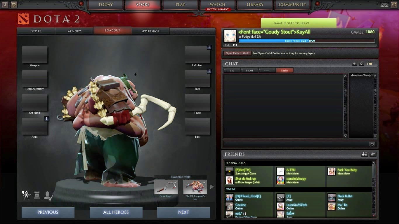 Dota 2 Immortal Items And Player Cards Released: Release Pudge DC Hook Mod >>>