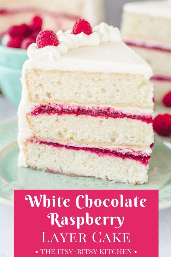 White Chocolate Raspberry Cake Cocoan Dish