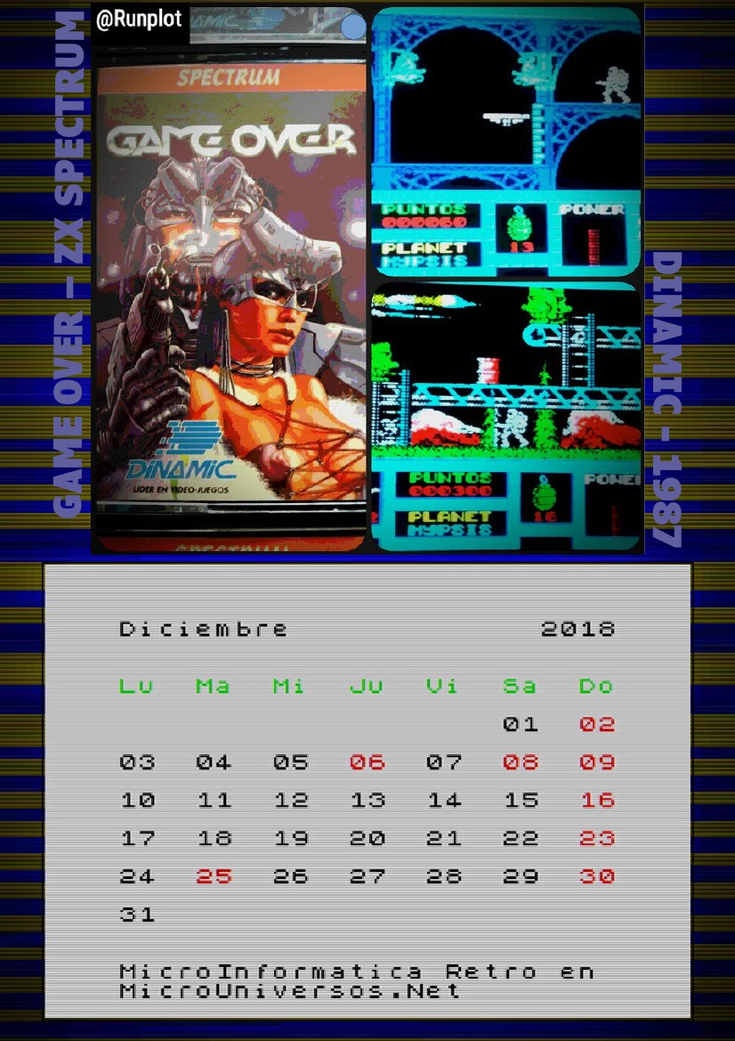 Microuniversos.net: Calendario pantallas versión Spectrum