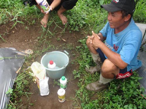 Beberapa petani mengkombinasikan aplikasi NOPATEK dengan produk fungisida kimia dengan dosis setengah-setengah, itupun tidak masalah.