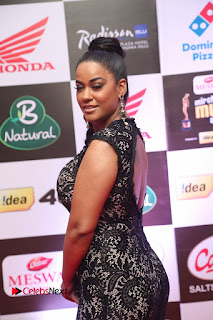 Actress Mumaith Khan Pictures in Black Dress at Mirchi Music Awards South 2015  0036