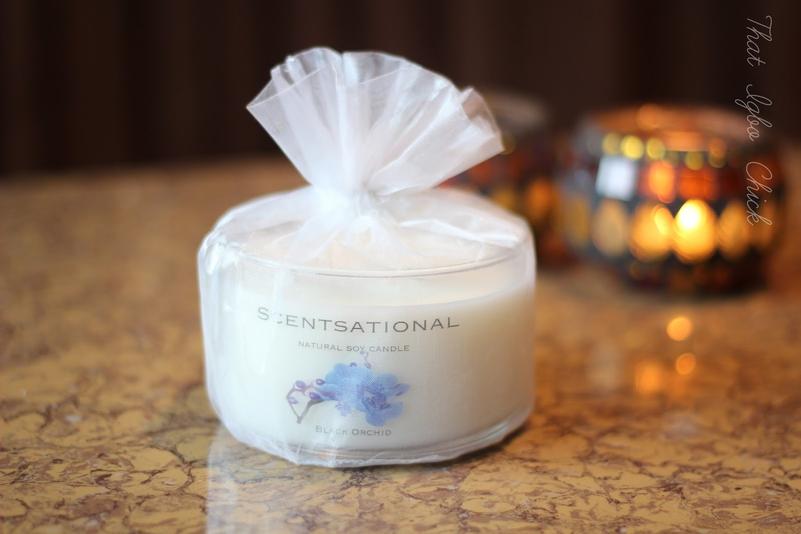Scentsational Natural Soy Candle Black Orchid