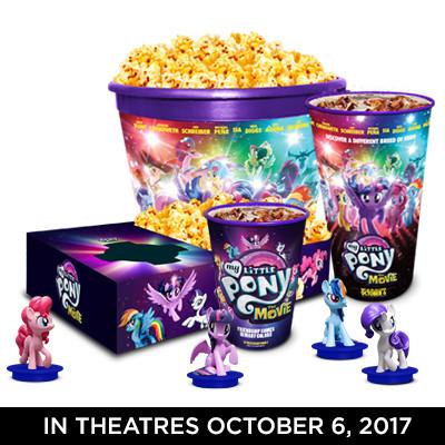 Little Pony Movie Concessions Figure Set
