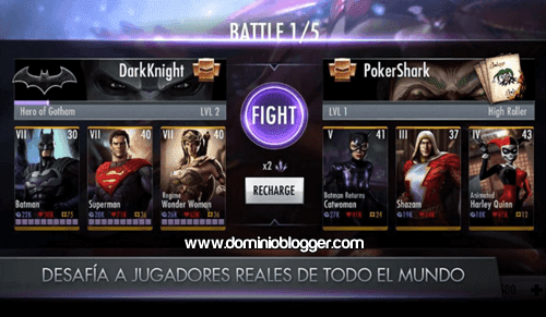 superheroes y villanos de DC en Injustice Gods Among Us