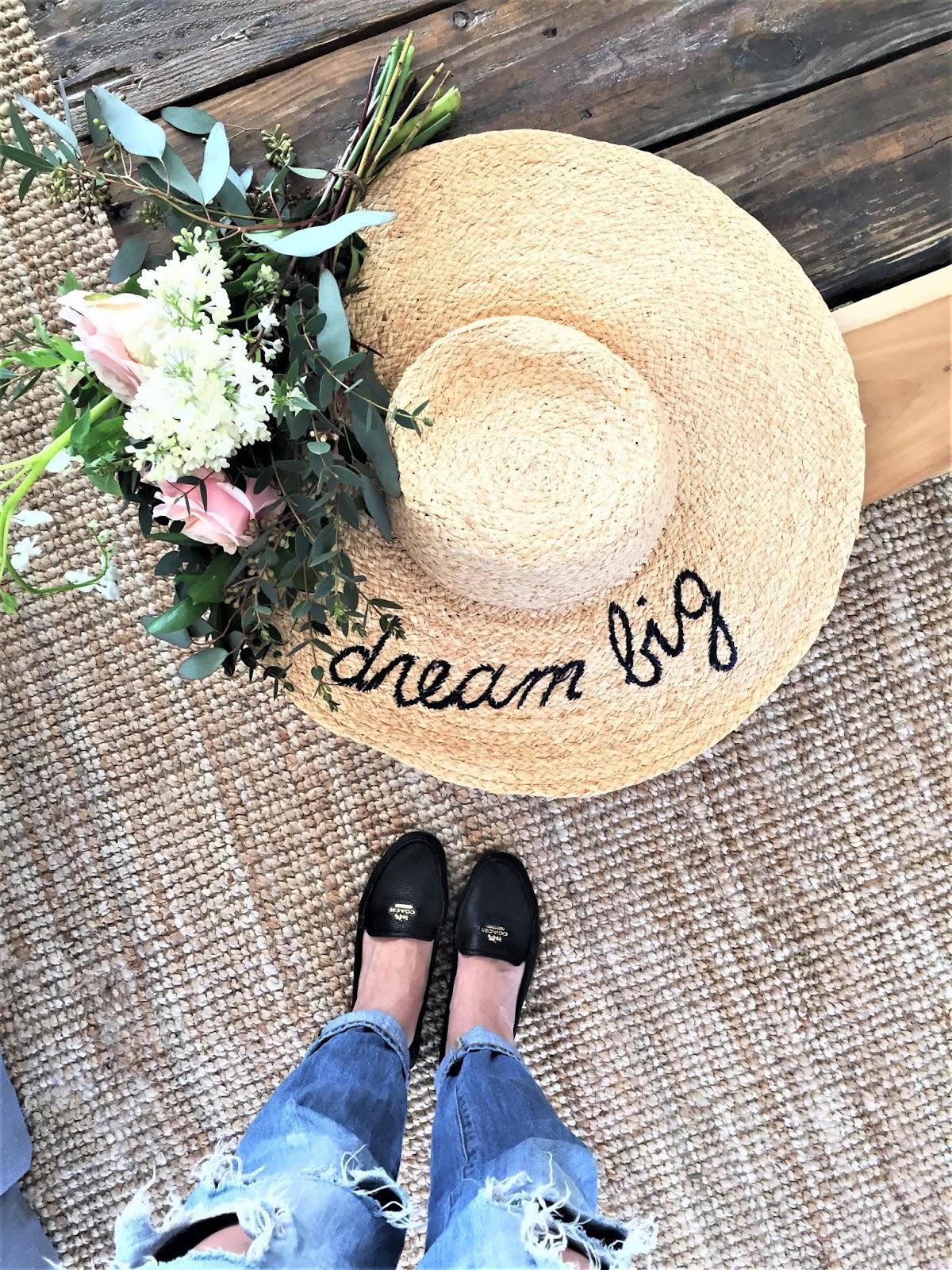 Bijuleni - Dream Big Hattack straw motto hat