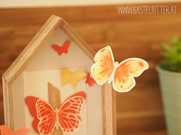 Watercolor Wings Butterfly Schmetterling Stampin' up! Bastelritter C'est la Schnipselritter