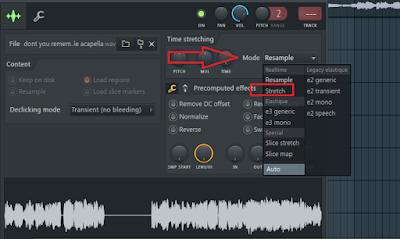 Cara merubah tempo samples atau lagu dengan cepat