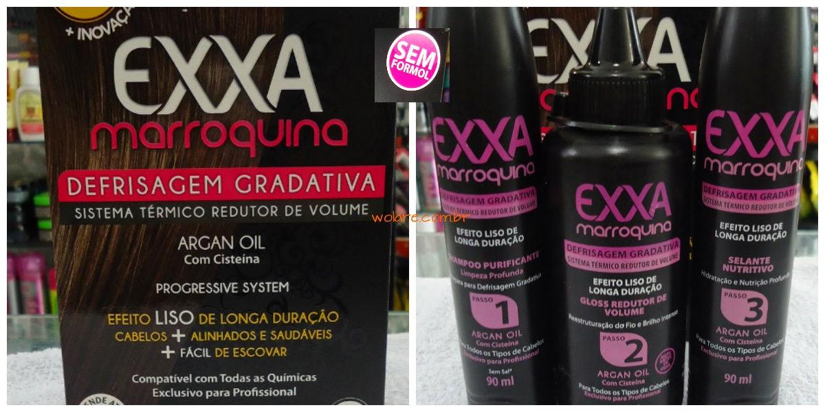 634450992 Kit Exxa Marroquina Defrisagem Gradativa Salon Line