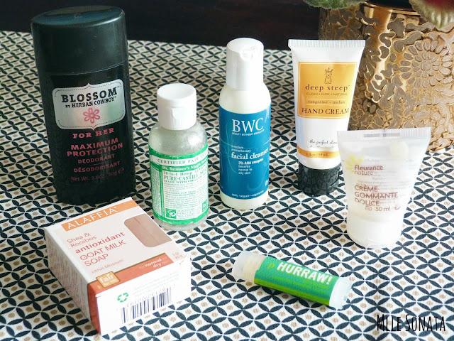 7 produits terminés soins du corps