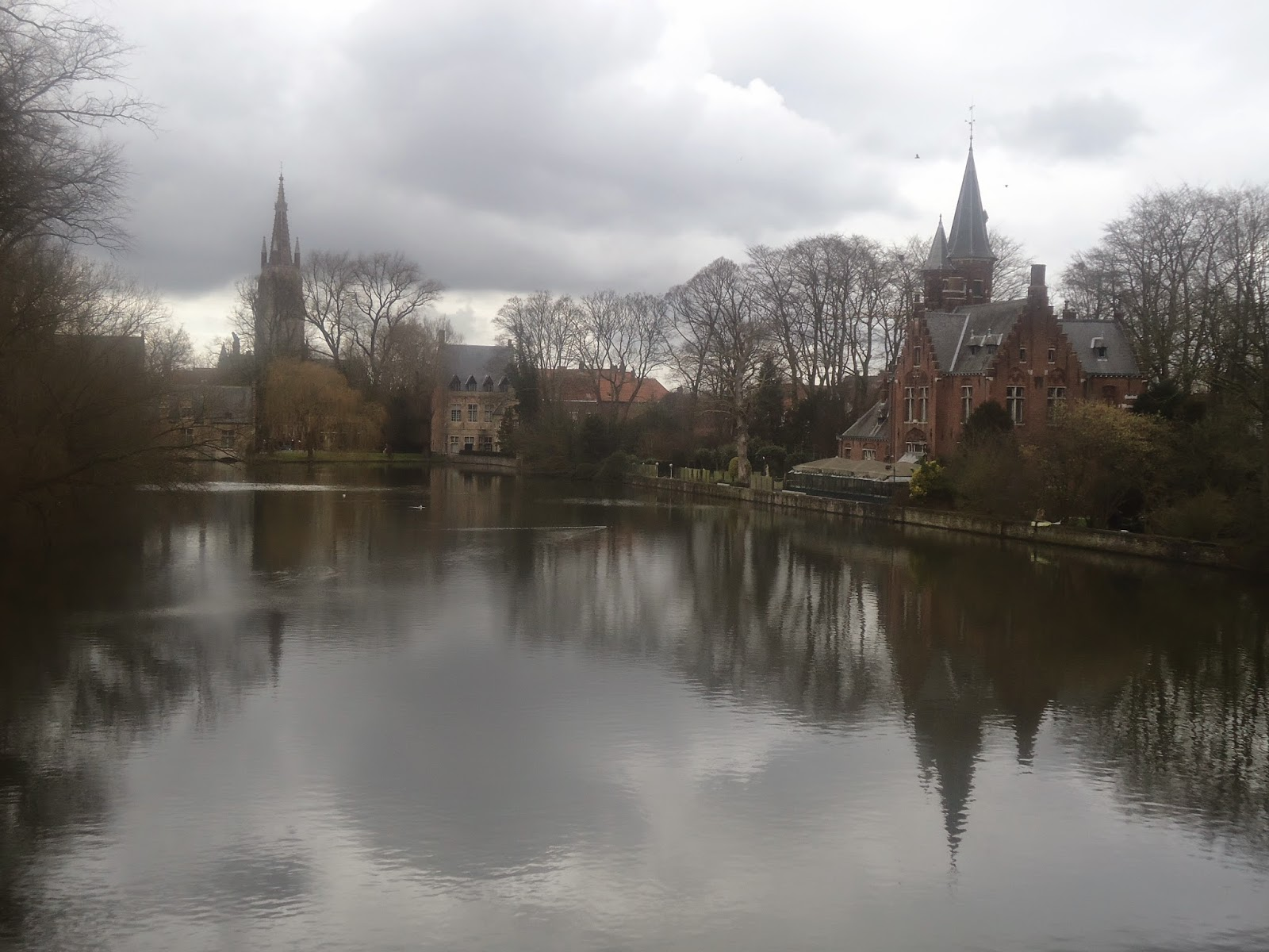 Travel Middle Ages Bruges Minnewater Park Belgium