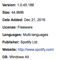 Spotify For Windows Download Free Offline Install