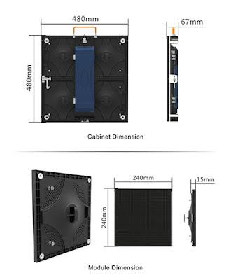 Màn hình led p4 module led, cabinet chính hãng tại Hà Giang