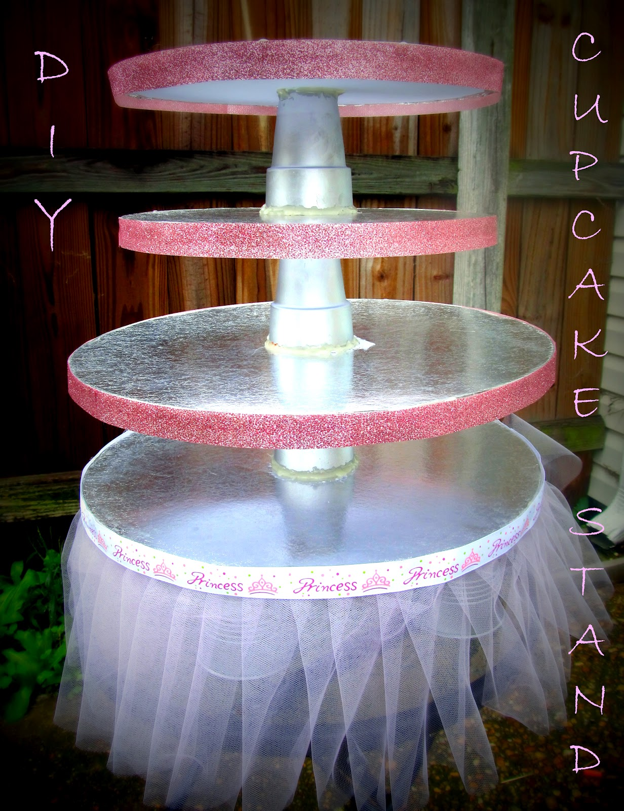 Bit of Blue Sky: DIY Cupcake Stand