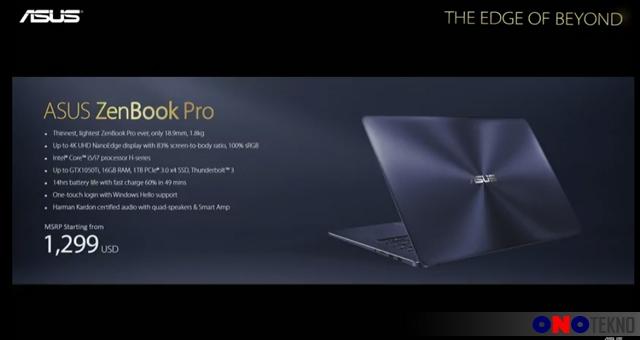 Harga ASUS ZenBook Pro ( UX550 )