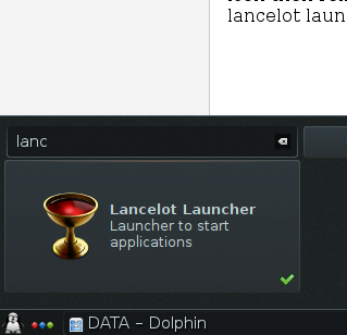 Change Default KDE start menu with Lancelot Start Menu