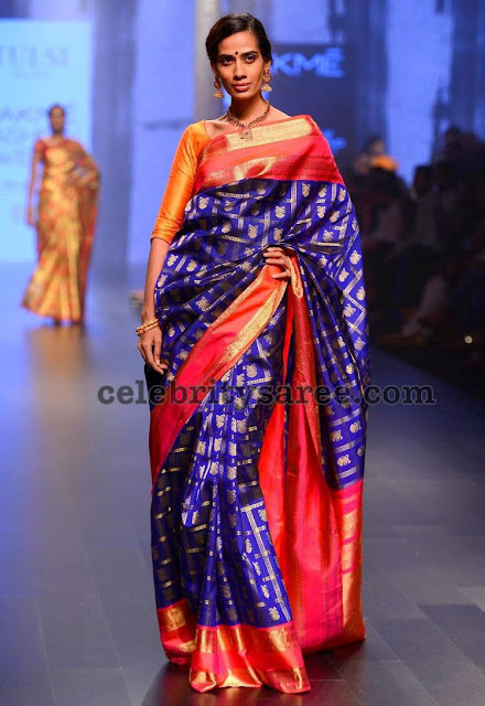 Parrot Design Kanchipattu Saree