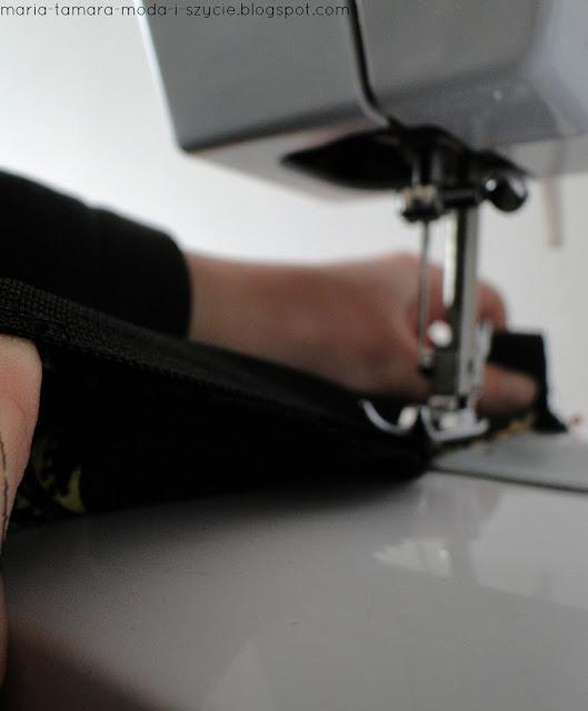 szycie spódnicy z gumą
