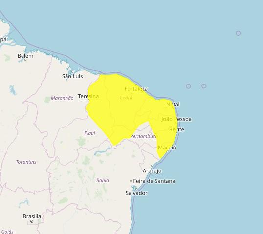 ALERTA: Sobe para 203 cidades da Paraíba, para risco de fortes chuvas. Vale do Paraíba em Alerta.