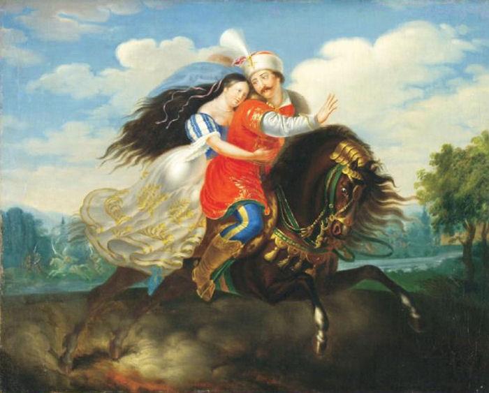 5d515006a7 Laccataris Demeter (1798-1864): Dobozi, festmény az Aurora 1822-es metszete  alapján, 1822k.