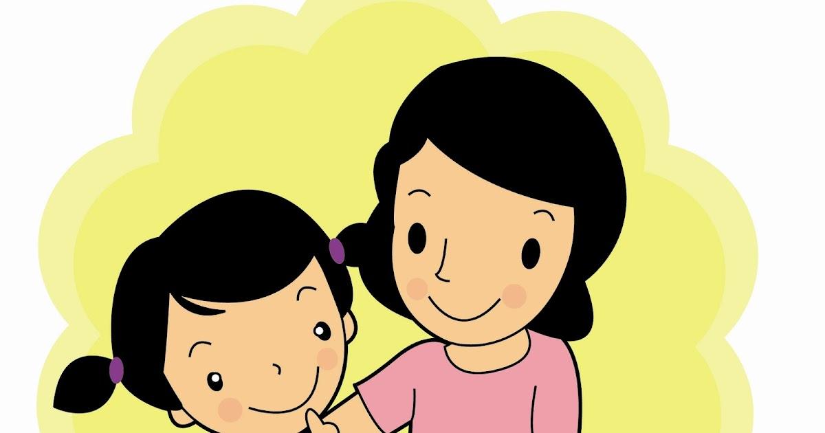 Gambar Kartun Ibu Dan Anak Cikimm Com