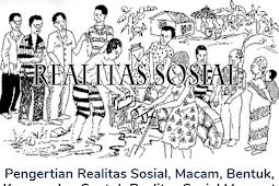 Realitas Sosial Beserta Pengertian, Macam, Bentuk, Konsep Dan Contohnya Menurut Para Ahli Terlengkap
