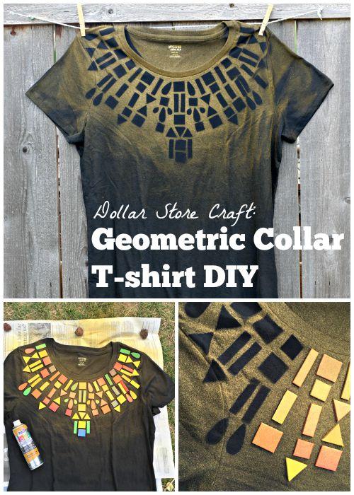iLoveToCreate Blog: Dollar Store Craft: Geometric Collar T ...