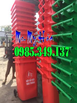 thùng -rác- 120 lít-màu đỏ