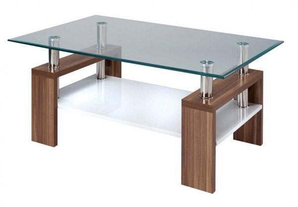 Desain Meja Kaca Persegi yang Cantik dan Mewah