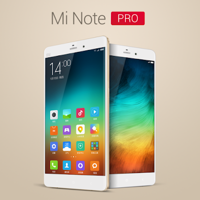 Xiaomi Mi Note Pro Spesifications - LAUNCH Announced 2015, January DISPLAY Type IPS LCD capacitive touchscreen, 16M colors Size 5.7 inches (~74.4% screen-to-body ratio) Resolution 1440 x 2560 pixels (~515 ppi pixel density) Multitouch Yes Protection Corning Gorilla Glass 3 BODY Dimensions 155.1 x 77.6 x 7 mm (6.11 x 3.06 x 0.28 in) Build Corning Gorilla Glass 3 back panel Weight 161 g (5.68 oz) SIM Dual SIM (Micro-SIM/Nano-SIM, dual stand-by) PLATFORM OS Android OS, v5.0.1 (Lollipop) CPU Quad-core 1.5 GHz Cortex-A53 & Quad-core 2.0 GHz Cortex-A57 Chipset Qualcomm MSM8994 Snapdragon 810 GPU Adreno 430 MEMORY Card slot No Internal 64 GB, 4 GB RAM CAMERA Primary 13 MP, f/2.0, OIS, autofocus, dual-LED (dual tone) flash Secondary 4 MP, f/2.0, 1080p (1/3' sensor size, 2µm pixel size) Features Geo-tagging, touch focus, face/smile detection, HDR, panorama Video 2160p, 1080p@30fps NETWORK Technology GSM / HSPA / LTE 2G bands GSM 850 / 900 / 1800 / 1900 - SIM 1 & SIM 2 3G bands HSDPA 850 / 1900 / 2100 4G bands LTE band 3(1800), 7(2600) Speed HSPA, LTE Cat9 450/50 Mbps GPRS Yes EDGE Yes COMMS WLAN Wi-Fi 802.11 a/b/g/n/ac, dual-band, WiFi Direct, hotspot GPS Yes, with A-GPS, GLONASS, BDS USB microUSB v2.0, USB Host Radio  Bluetooth v4.1, A2DP, LE FEATURES Sensors Sensors Accelerometer, gyro, proximity, compass, barometer Messaging SMS(threaded view), MMS, Email, Push Mail, IM Browser HTML5 Java No SOUND Alert types Vibration; MP3, WAV ringtones Loudspeaker Yes 3.5mm jack Yes BATTERY  Non-removable Li-Ion 3000 mAh battery Stand-by  Talk time  Music play  MISC Colors Black, White, Gold SAR US - Fast battery charging: 60% in 30 min (Quick Charge 2.0) - Active noise cancellation with dedicated mic - MP4/H.264 player - MP3/WAV/eAAC+/Flac player - Photo/video editor - Document viewer