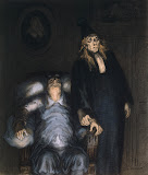 Supposed Invalid by Honore Daumier - Genre Paintings from Hermitage Museum