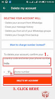 how to delete whatsapp account with phone