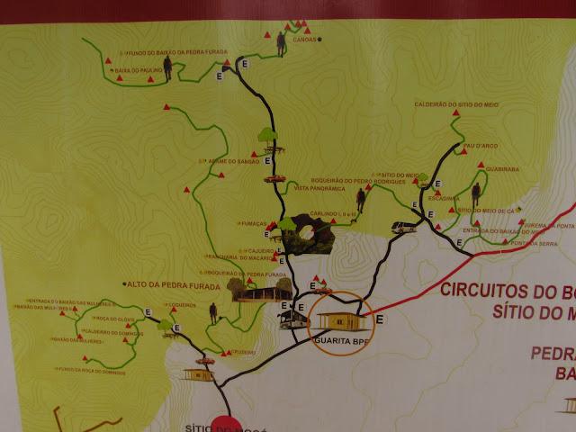 mapa circuito boqueirao pedra furada