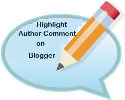 Highlight Author Comment on Blogger