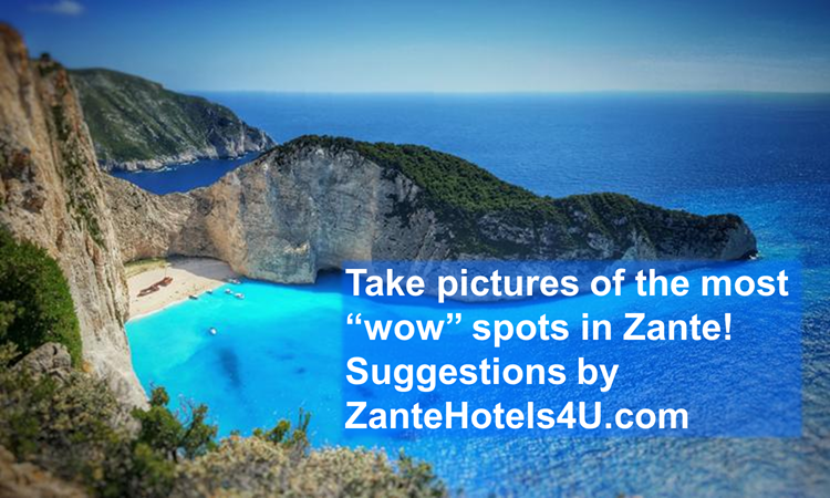 Take pictures of the most famous sights of Zante, Greece!