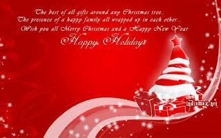 Kartu Ucapan Natal Merry Christmas 8009