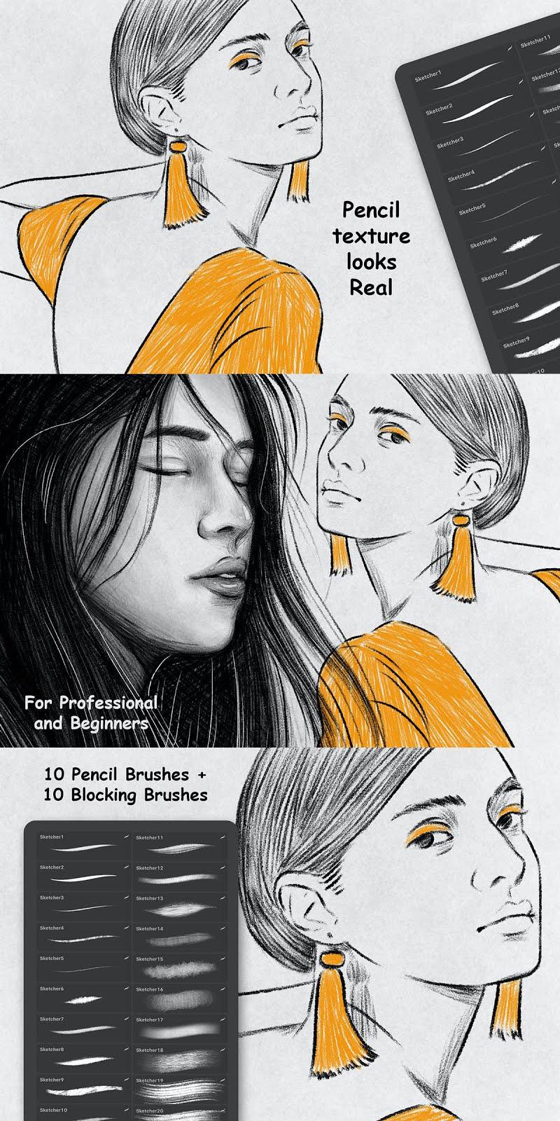 Sketcher Brushes   Procreate Brush Free