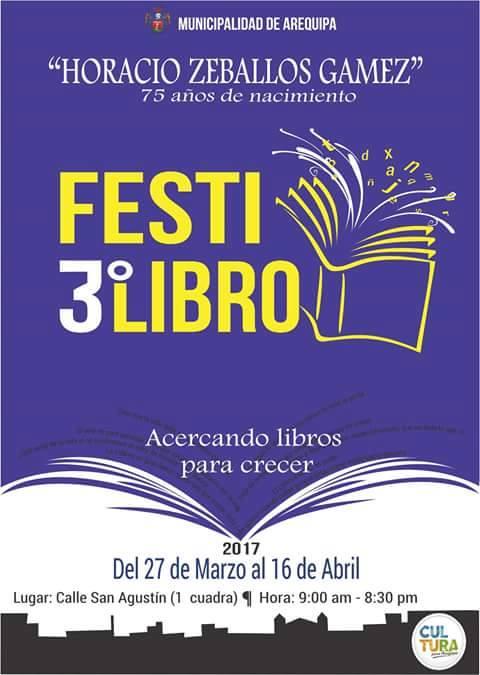 3er Festi Libro 2017 - 27 de marzo al 16 de abril