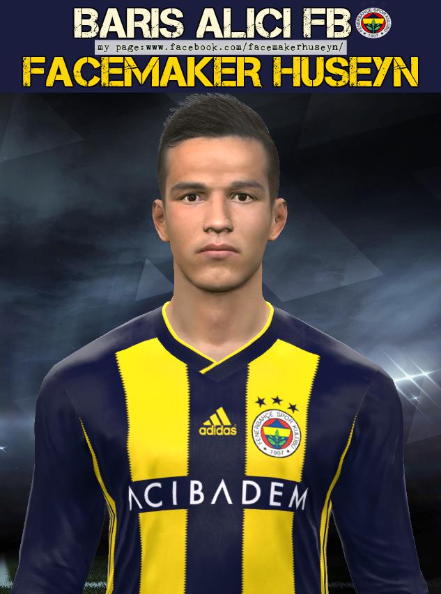 PES 2017 Barış Alıcı (Fenerbahçe) face by Facemaker Huseyn