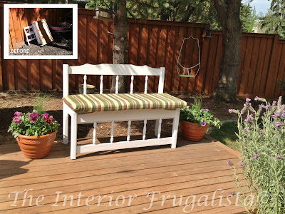 Outdoor Headboard Bench