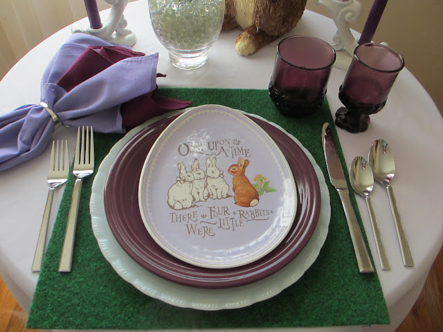 Table For One Shades Of Purple Easter Table