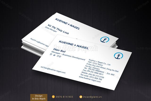 Thẻ card thăm KUEHNE + NAGEL