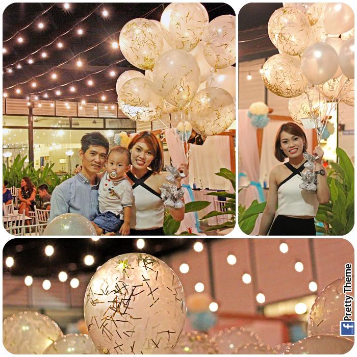 Pretty theme event planner 2014 special glittering gold confetti latex helium balloons for wedding lotta muar junglespirit Gallery