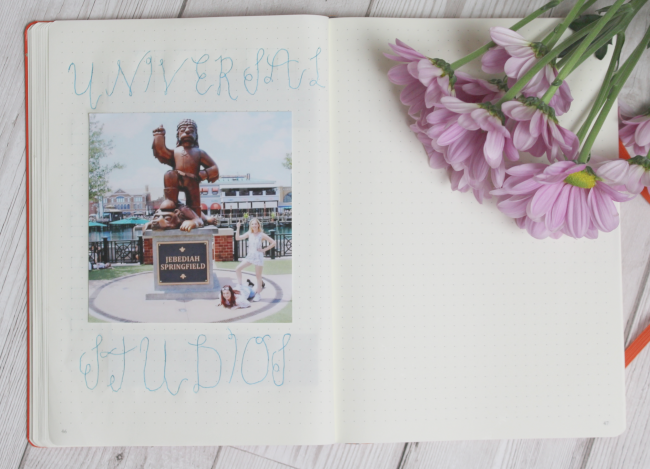 Scrapbooking in my bullet journal and how it's helping my mental health