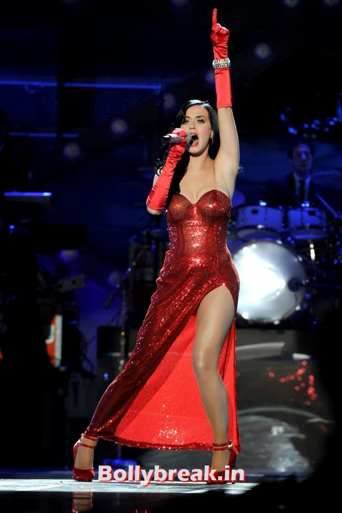 Katy Perry, Who Looks the Hottest in Red Party Dress
