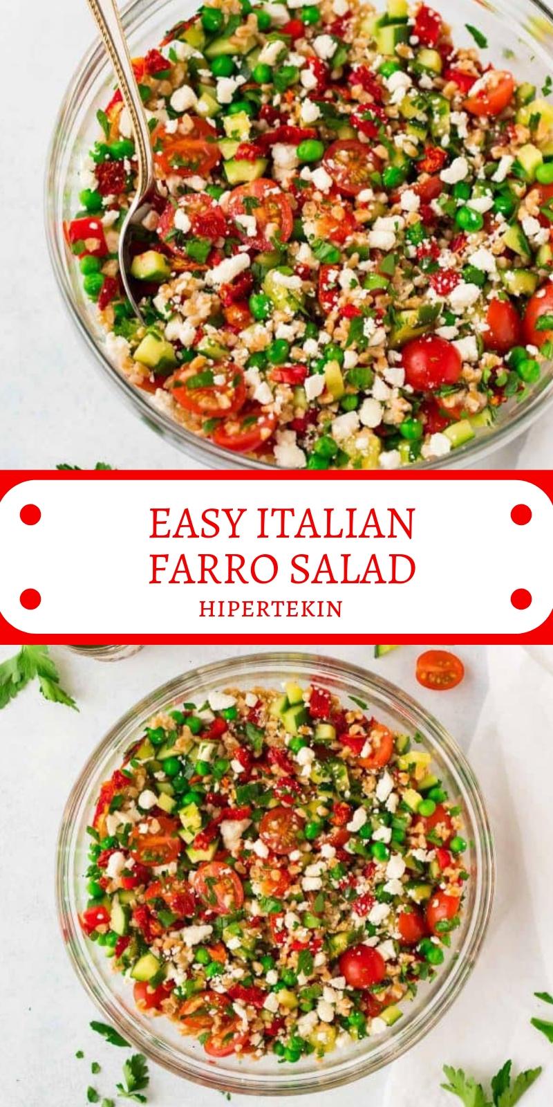EASY ITALIAN FARRO SALAD