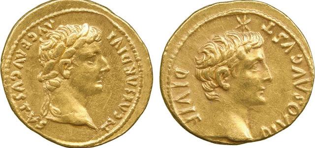 Monedas de oro y Derecho de la antigua Roma