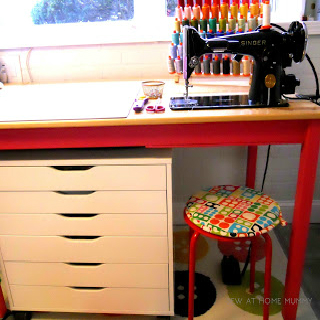 IKEA INGO Dining Table Hack for a Sewing Machine - Sink your Sewing Machine in a Table!